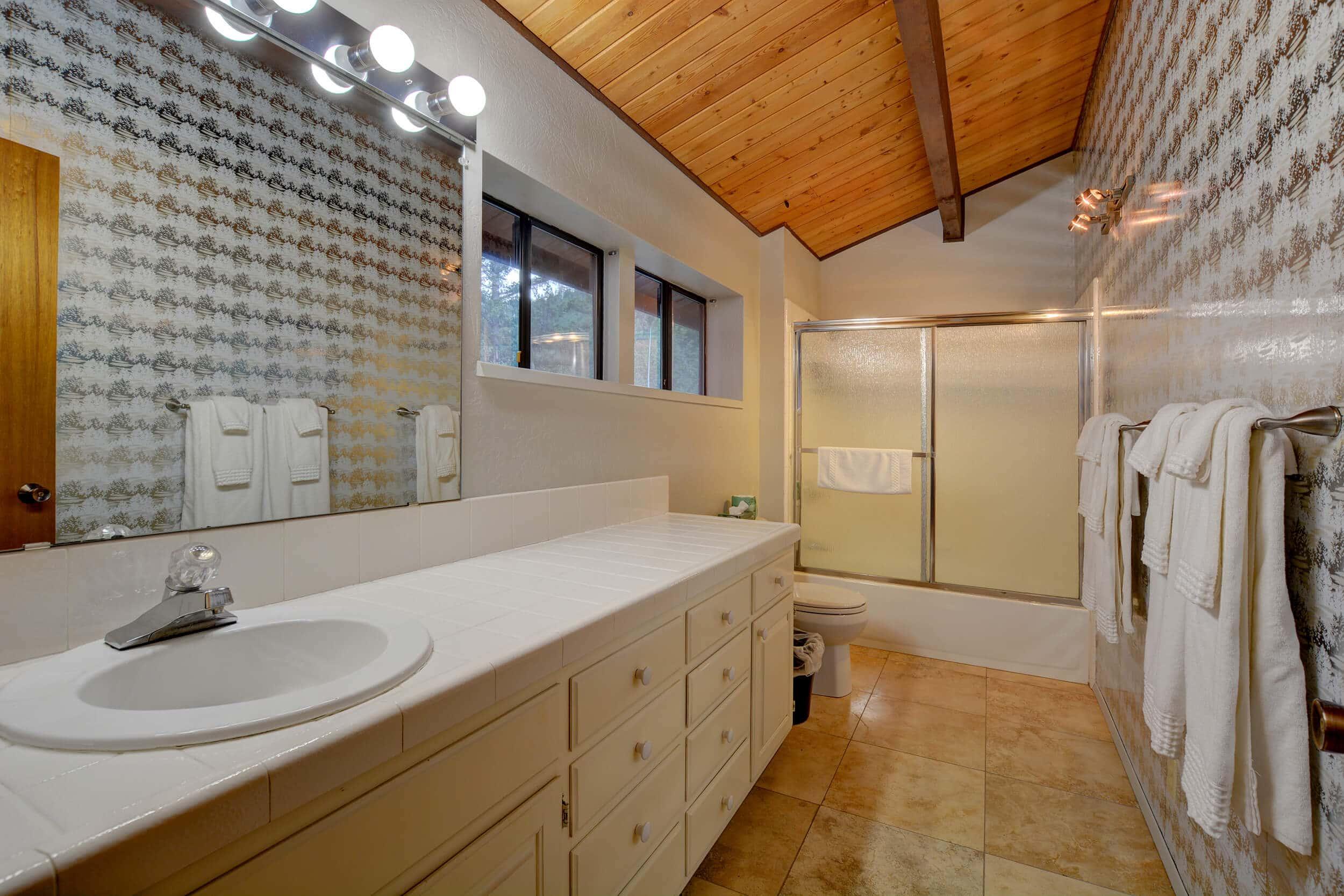 The Treetops House Lower Bathroom